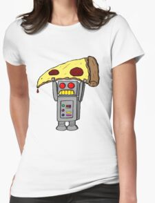 Pizza Robot (Color) Womens Fitted T-Shirt