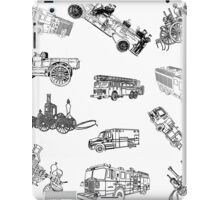 Fire Trucks - Old and New iPad Case/Skin