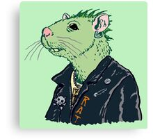 Rat Punk™ (Vile Green) Canvas Print