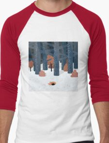 Asleep in the Woods Men's Baseball ¾ T-Shirt