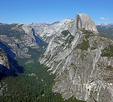 Yosemite NP California - Half Dome & Yosemite Valley by Buckwhite