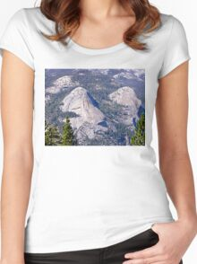 Yosemite NP California - Rock Formations Women's Fitted Scoop T-Shirt