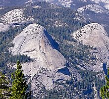Yosemite NP California - Rock Formations by Buckwhite