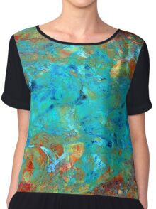 Uncharted Waters Chiffon Top