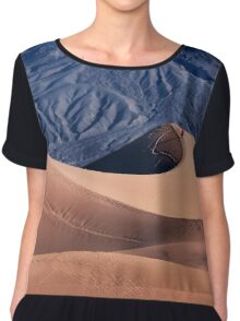 Sunrise over Mesquite Flat Sand Dunes Chiffon Top