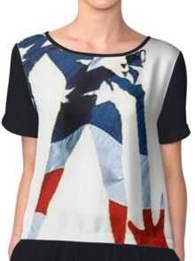 AMERICAN WOMAN Chiffon Top