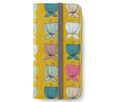 flower cups yellow iPhone Wallet/Case/Skin