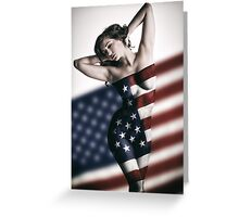 American Girl Greeting Card