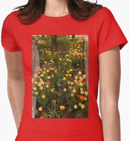 The Best Traffic Island in Town - Enjoying the Beauty of Spring Womens Fitted T-Shirt
