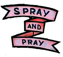 spray and pray Photographic Print