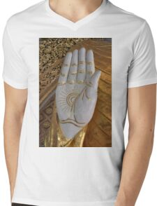 Big Buddha hand Mens V-Neck T-Shirt