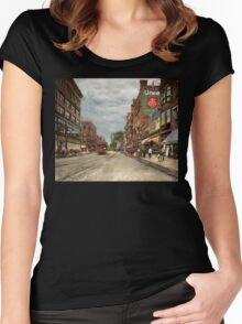 City - Lowell MA - A dam good company 1908 Women's Fitted Scoop T-Shirt