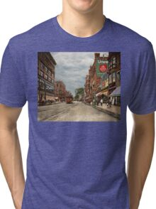 City - Lowell MA - A dam good company 1908 Tri-blend T-Shirt