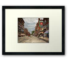 City - Lowell MA - A dam good company 1908 Framed Print