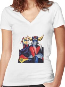 GOLDRAKE  Women's Fitted V-Neck T-Shirt