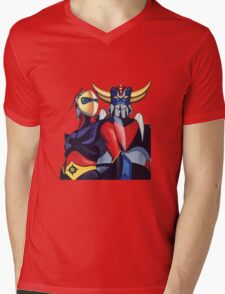 GOLDRAKE  Mens V-Neck T-Shirt