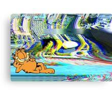 The Garfield Glitch Canvas Print
