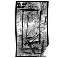 The Door. Black and White Expression Poster