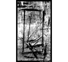 The Door. Black and White Expression Photographic Print