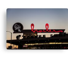 Bob's Big Boy Broiler Canvas Print