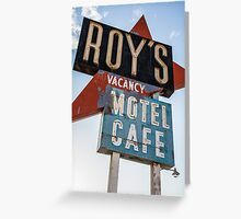 Roy's Cafe Greeting Card