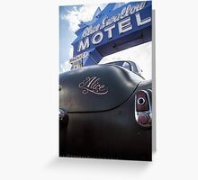 Alice At The Blue Swallow Motel Greeting Card