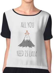 ALL YOU NEED IS LAVA ! Chiffon Top