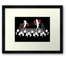 Featherweight boxers Framed Print