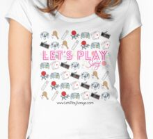 Let's Play Pink T Shirt Women's Fitted Scoop T-Shirt