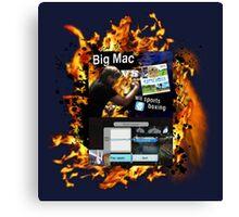 Big Mac vs Wii Sports Boxing Canvas Print