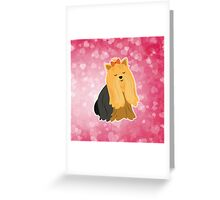 Cartoon Yorkshire Terrier Greeting Card