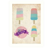 We love ice cream Art Print