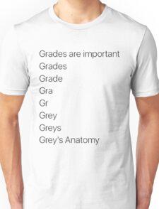 greys anatomy x grades Unisex T-Shirt