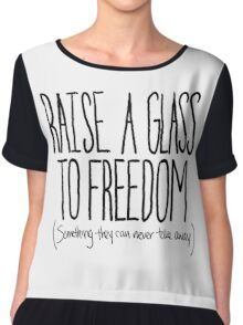 Raise A Glass Chiffon Top