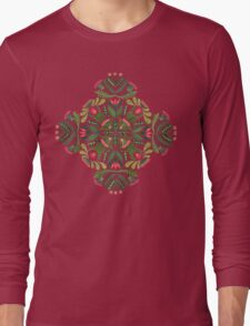 Little red riding hood - mandala pattern Long Sleeve T-Shirt