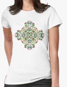 Little red riding hood - mandala pattern Womens Fitted T-Shirt