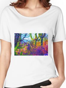 Psychedelic Cactus Tangle Women's Relaxed Fit T-Shirt