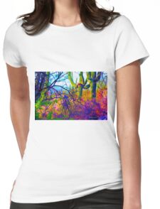 Psychedelic Cactus Tangle Womens Fitted T-Shirt