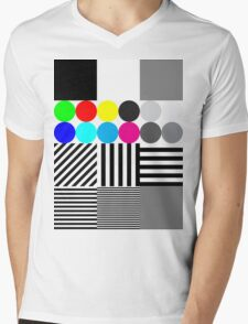 Extreme tone test pattern with colour Mens V-Neck T-Shirt