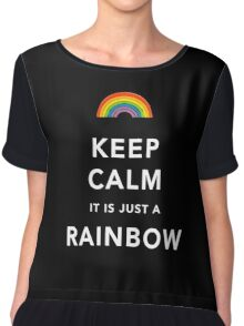 Keep Calm Is Just a Rainbow Chiffon Top