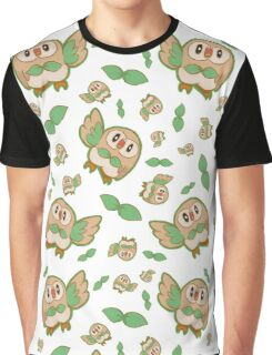 Rowlet Pattern Graphic T-Shirt