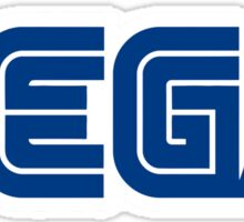 sega logo game Sticker