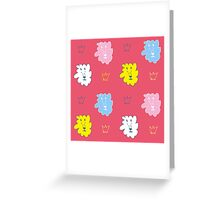 Lions on red Greeting Card