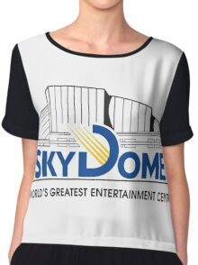 Vintage SkyDome Graphic Chiffon Top