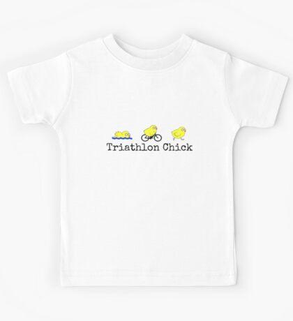 Triathlon Chick Kids Tee