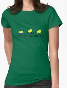 Triathlon Chick Womens Fitted T-Shirt