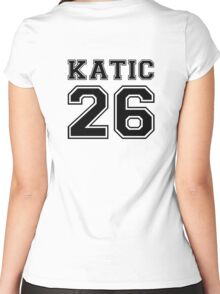 Katic #26 Women's Fitted Scoop T-Shirt
