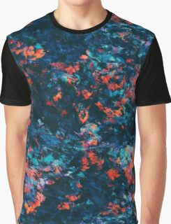 Abstract Paint Edit of Small Flowers Graphic T-Shirt