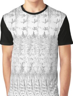 Feather Pattern | Grey and White Graphic T-Shirt
