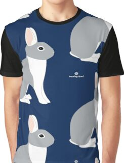 Lilac White Eared Rabbit Graphic T-Shirt